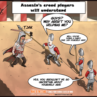 one at a time assasins creed no extra text